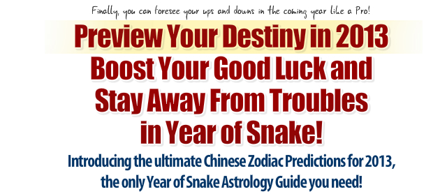 Chinese Zodiac 2013 Predictions Introduction
