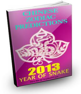 Chinese Zodiac 2013 Predictions e-Book