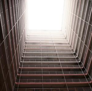 Hollow square building