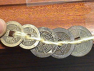 Five Emperor Coins for Door Threshold Feng Shui